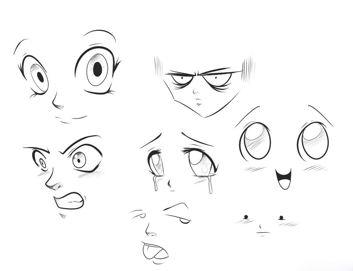 Аниме рисунки злость